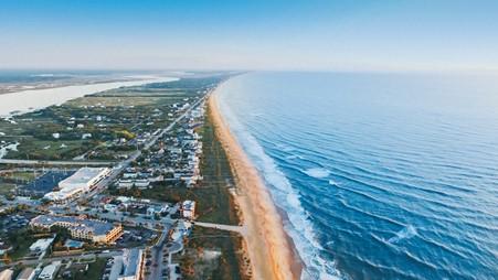 Florida's coastline and nearby neighborhoods.